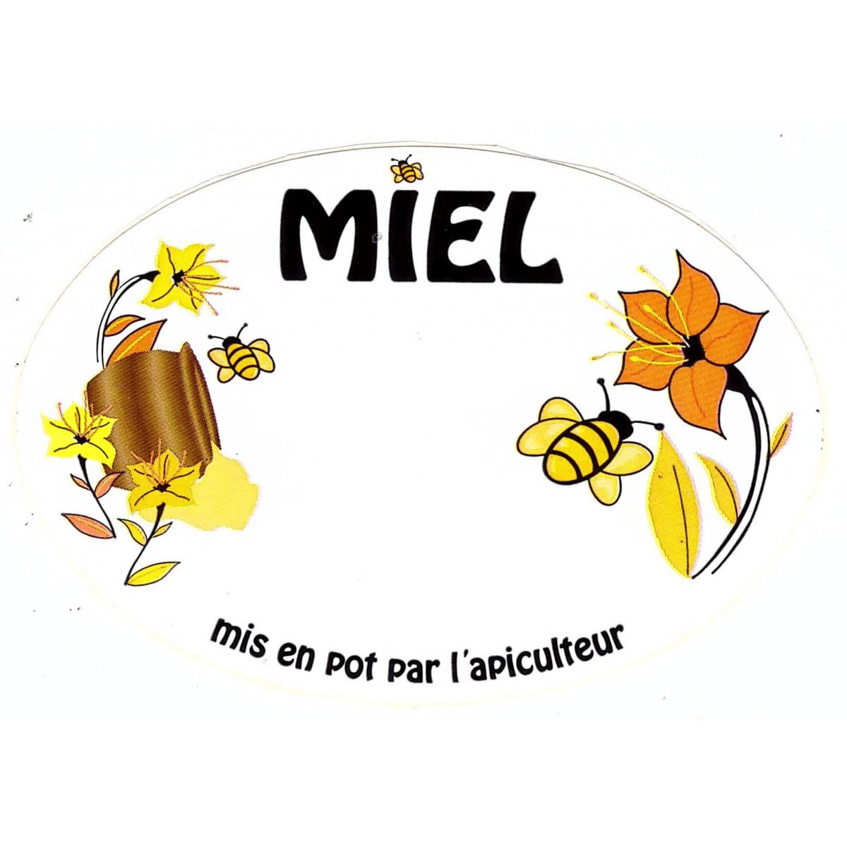 Etiquette ovale fleurs, le cent